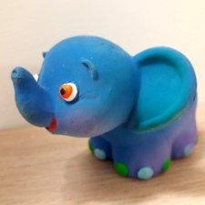 Gioco Elefante Azzurro in caucciù naturale