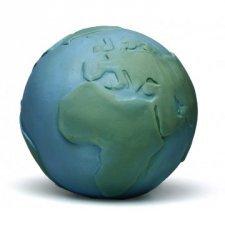Pallina Mondo in caucciù naturale