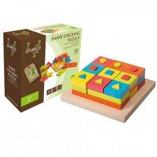 Gioco puzzle tridimensionale in legno ecologico