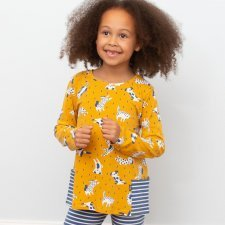 Girl Cats and Dogs tunic in organic cotton