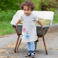 Girl busy Bee dress in organic cotton