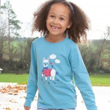 Girl long sleeve shirt Alpaca in organic cotton