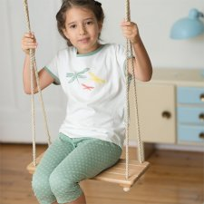 Girl pyjama in organic cotton Living Crafts