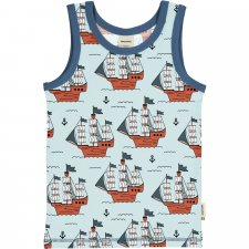 Pirates tank top with wide shoulder in organic cotton