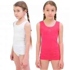 Girl's singlet in Modal and Cotton