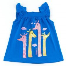 Girls tank top Giraffes in organic cotton