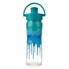 Glass Water Bottle with Active Flip Cap and Silicone Sleeve-475ml