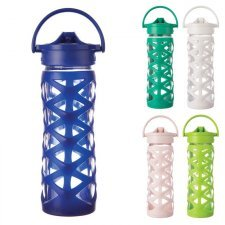 Glass bottle with straw cap Axis 475 ml
