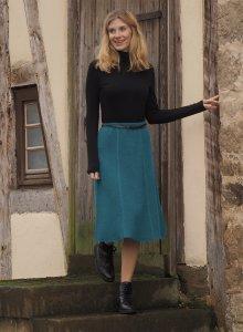 Gonna lunga da donna in pura lana cotta biologica