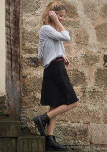 Gonna Swing da donna in pura lana cotta biologica