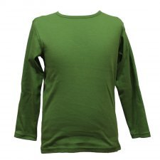 Green organic cotton long sleeve shirt