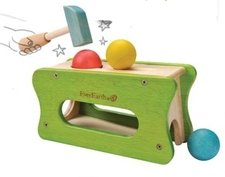 Hammer and ball game in wood
