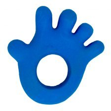 Blue hand teether Lanco in natural rubber