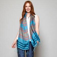 Handloom scarf Sea in fairtrade viscose