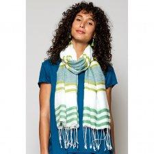Handloom scarf Leaf in fairtrade viscose