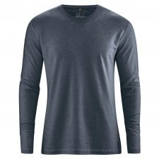 Hemp Basic long sleeve shirt Anthracite