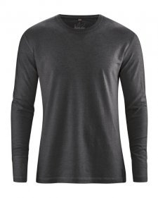 Hemp Basic long sleeve shirt Black