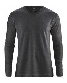 Hemp Basic long sleeve shirt Black