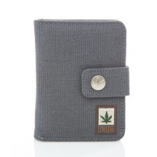 Hemp wallet with snap faster