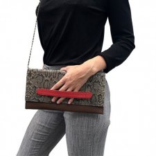 Clutch bag in Fair Trade recycled leather