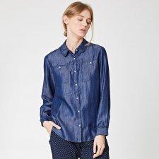 Herrick frill collar chambray woman shirt