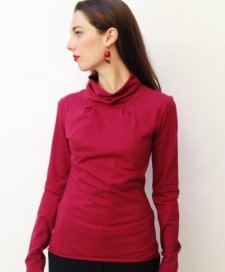High neck shirt woman Rafaela in fair trade organic cotton