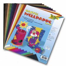 Colored corrugated cardboard sheets 10 pcs