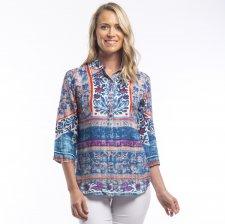 IBIZA shirt in natural viscose shantung