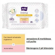 Intimate wet wipes in 100% cotton Bella