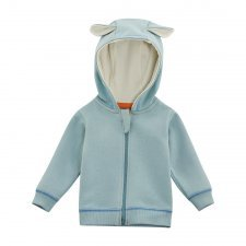 Jacket baby with hood in organic cotton