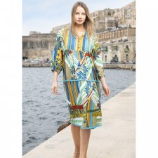 MALAGA Boho style dress in natural viscose