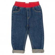 Jeans bambino con cintura elasticizzata in cotone bio