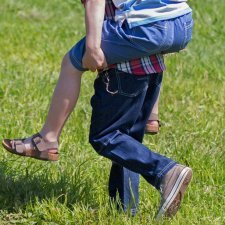 Jeans bambino in cotone bio