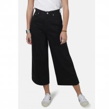 Jeans Crop a gamba larga Black 100% cotone biologico