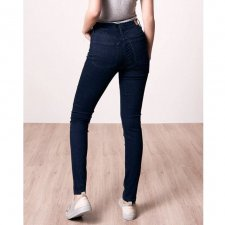 Jeans Donna Max Flex dark denim in Cotone Biologico