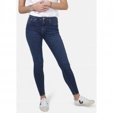 Jeans Jane Skinny Dark vita alta cotone biologico