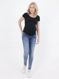 Jeans Sostenibili per Gravidanza super skinny stone wash