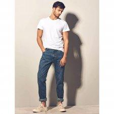 Jeans Uomo Blue Denim Laser in canapa e cotone biologico