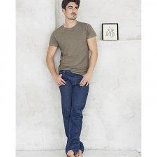Jeans Uomo Blue Denim Rinse in canapa e cotone biologico