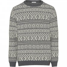 Valley jacquard sweater for men in Wool and Organic Cotton