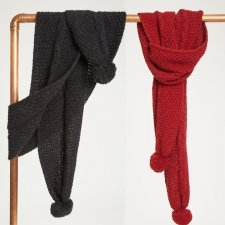 Jordun scarf in wool and organic cotton