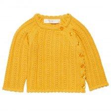 Jumper baby Picasso mustard in organic cotton Sense Organics