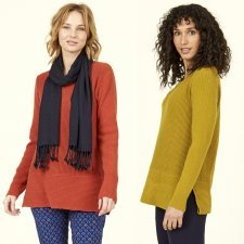 Jumper in merino wool and cotton