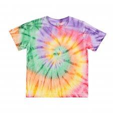 Junior unisex basic t-shirt in organic cotton - TIE DYE