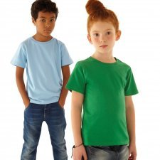 Junior unisex basic t-shirt in organic cotton