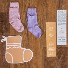 Kids Girl Socks in Eucalyptus Fiber pack of 2