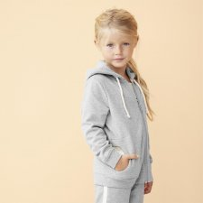 Kids hooded jacket in organic cotton