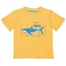 Kids organic cotton T-shirt Megalodon