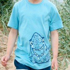Kids Shark t-shirt in organic cotton