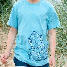 Kids Shark t-shirt in organic cotton